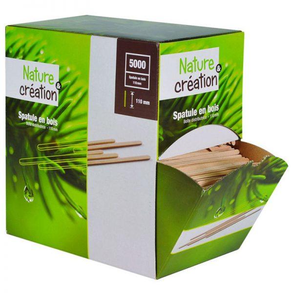 Carton de 20000 Agitateurs à café bois 11cm en boite distributrice