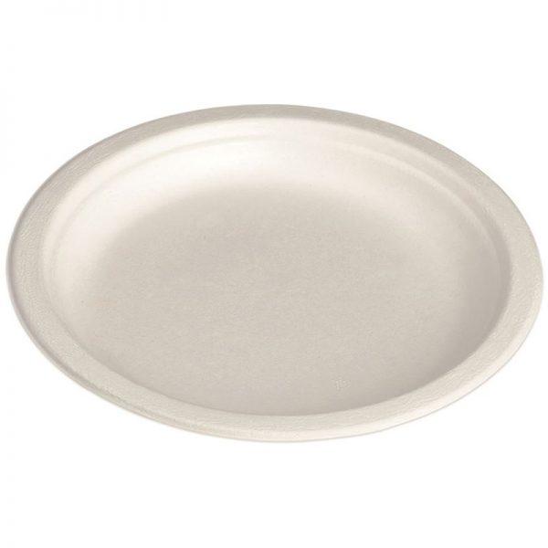 Carton de 1000 Assiettes bagasse blanche 15cm