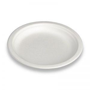 Carton de 500 Assiettes bagasse blanche 18cm