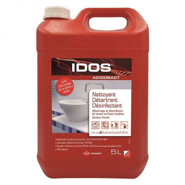 Carton de 2 bidons de Nettoyant détartrant désinfectant Idos Acidobact