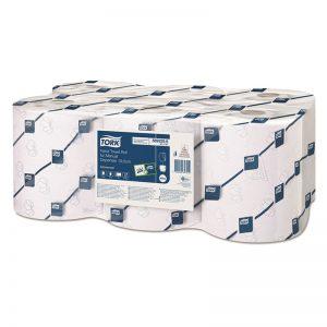 Carton de 6 Rouleaux d'essuie mains 2 plis blanc 19,5cmx160m H14