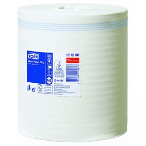 Carton de 6 Bobines d'essuyage dévidage central 2 plis gaufré blanc 457 formats M2