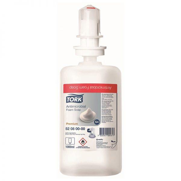Carton de 6 recharges de Savon mousse mains bactéricide S4 1l