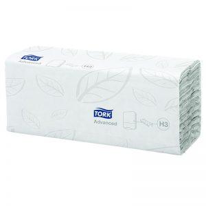 Carton de 2560 Essuie mains enchevêtré 2 plis 25x31cm pliage en V H3