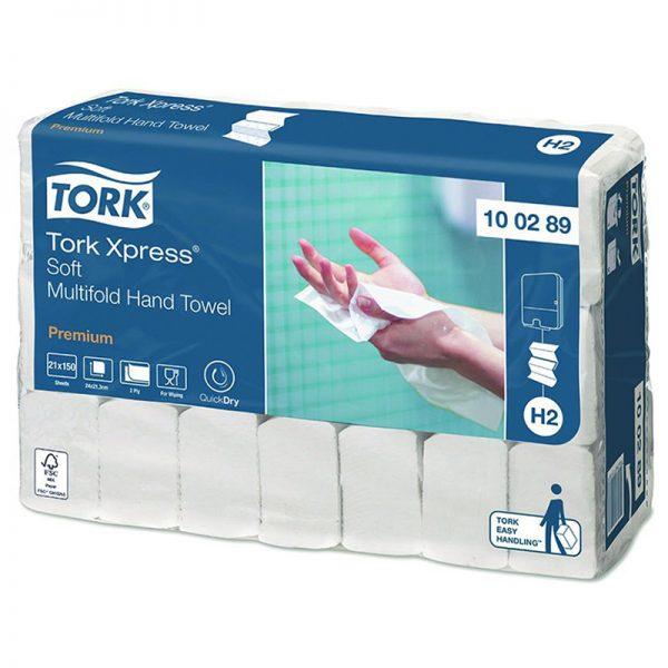 Carton de 3150 Essuie mains enchevêtré 2 plis 25x21cm pliage en Z H2
