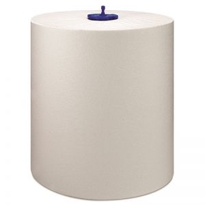 Carton de 6 Rouleaux d'essuie mains 1 pli blanc 21cmx280m H1