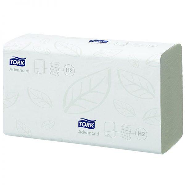 Carton de 3800 Essuie mains enchevêtré 2 plis 23x21cm pliage en Z H2