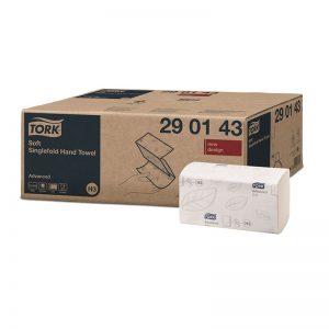 Carton de 3750 Essuie mains enchevêtré 2 plis 23x22,6cm pliage en V H3
