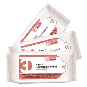 Carton de 800 Lingettes désinfectantes surfaces & matériels 18x20cm