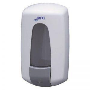 Distributeur manuel blanc à remplissage pour gel hydroalcoolique 900ml