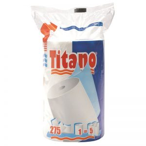 Carton de 12 bobines de Essuie tout ouate 2 plis Titano 22x24cm 275F emballé individuellement
