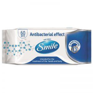 Carton de 720 Lingettes anti bactérienne pour mains & surfaces Smile 18,5x20cm