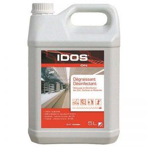 Carton de 2 bidons de Dégraissant désinfectant bactéricide virucide EN 14476 Idos DN 5l