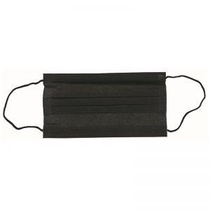 Carton de 2400 Masques 3 plis noir avec barrette nasale