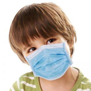 Carton de 5000 Masques chirurgicaux 3 plis type IIR EN 14683 enfant