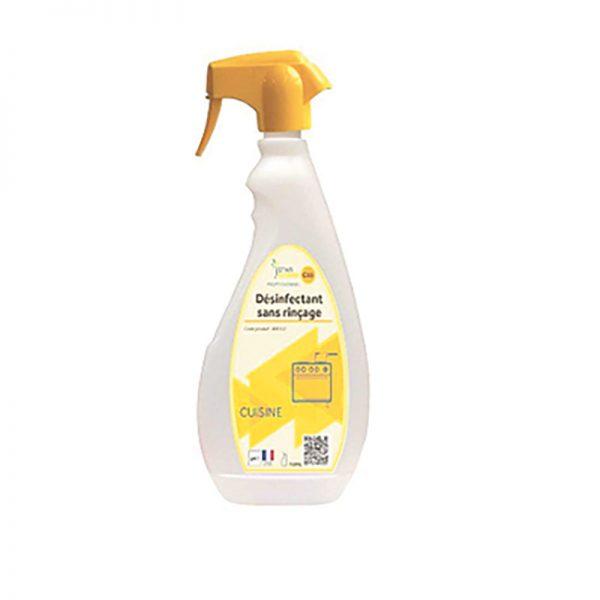 Spray nettoyant désinfectant sans rinçage