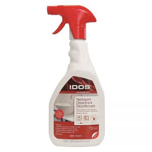 Carton de 6 flacons nettoyants détartrants désinfectants Idos Acidobact