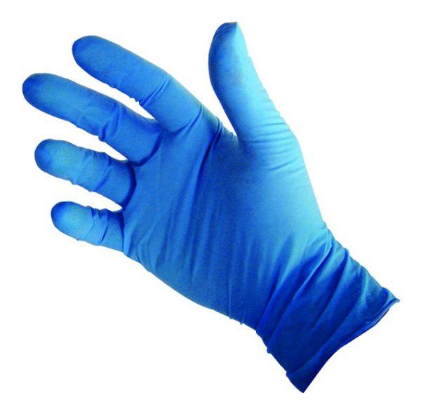gants vitryl bleus