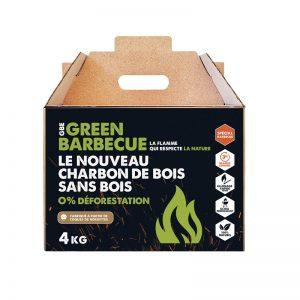 Carton de 4kg de Briquettes de charbon de coques de noisettes GreenBBQ